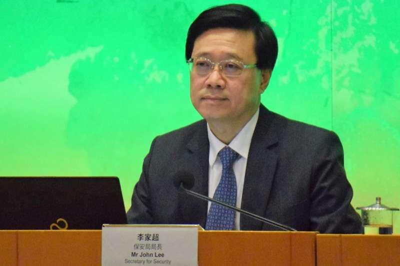 香港保安局局長李家超。(美國之音)