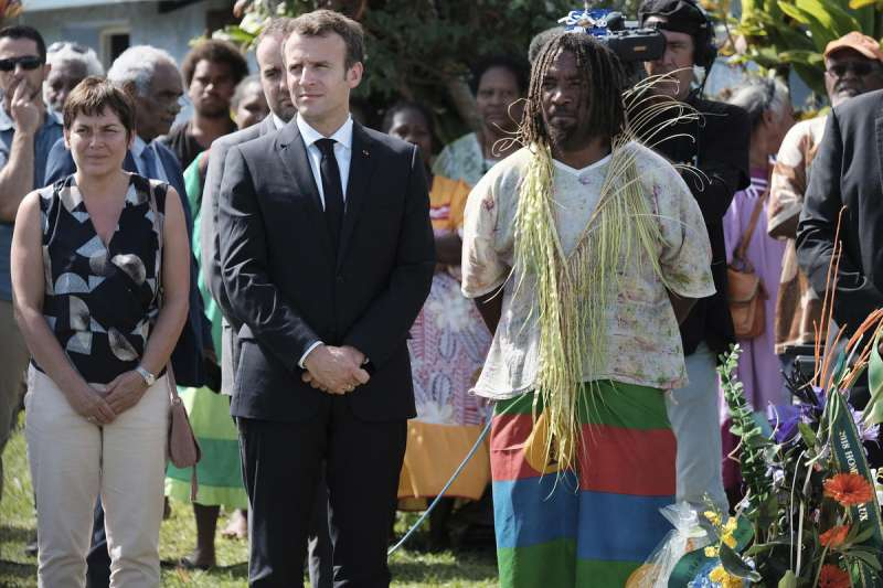 法國總統馬克宏5月到訪南太平洋屬地新喀里多尼亞(AP)