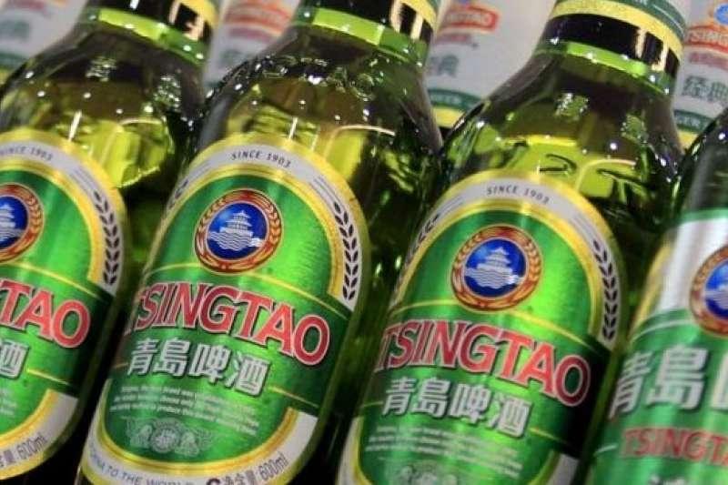 清爽的青島啤酒。(BBC中文網)