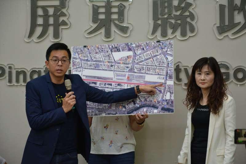 作者表示,他們希望反拆遷之住戶可以了解,道路一旦拓寬,民眾就不必擠在壅擠的後車站出入口,讓大多數民眾享有通行安全,是公共利益。(資料照,屏東縣政府提供)