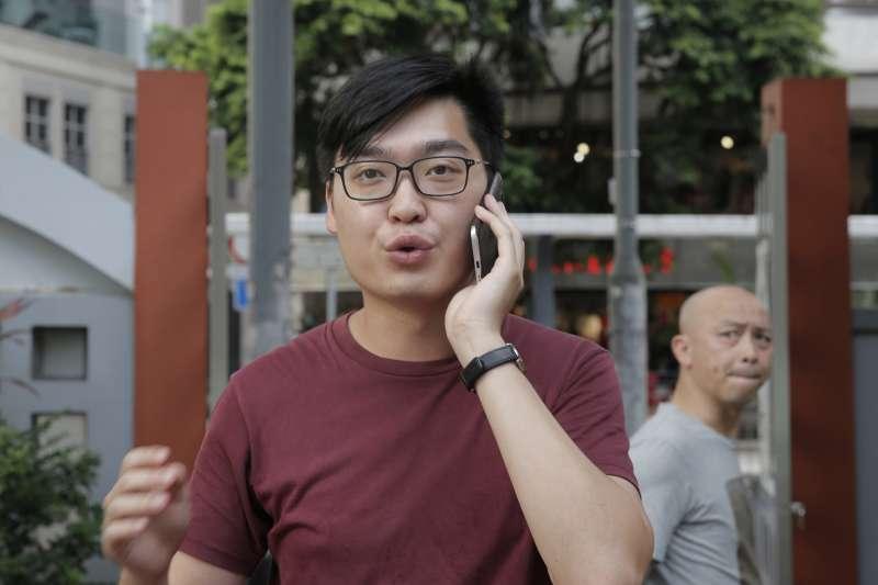 香港特區政府打壓港獨,封殺香港民族黨。圖為「香港民族黨」召集人、香港獨立運動支持者陳浩天。(AP)