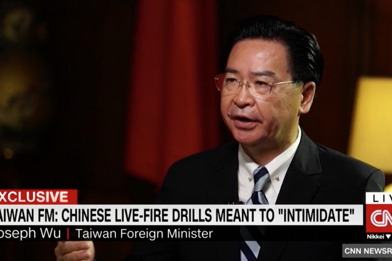吳釗燮接受CNN專訪。
