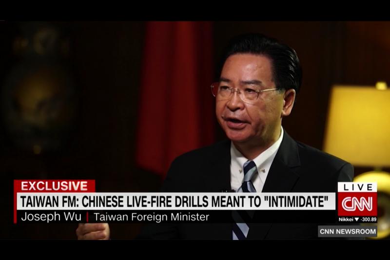 吳釗燮接受CNN專訪,強調台美關係的重要性。