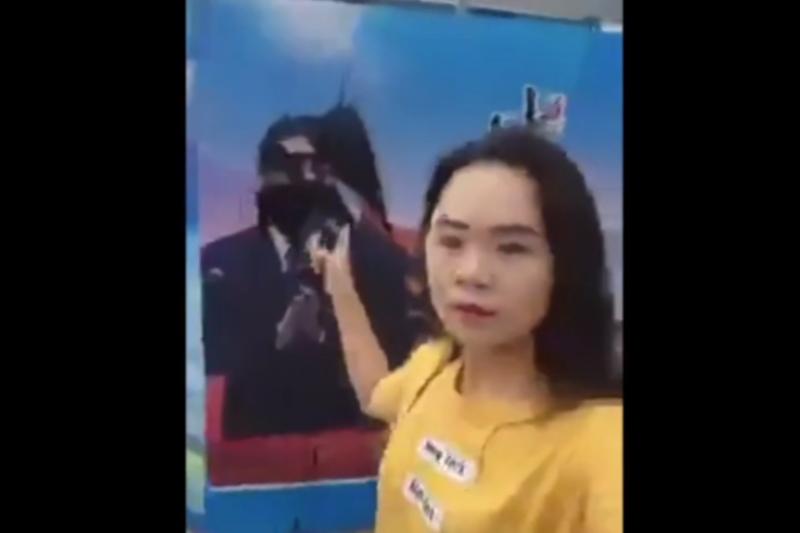 上海潑墨習近平畫像的湖南女孩董瑤瓊。(資料照片)