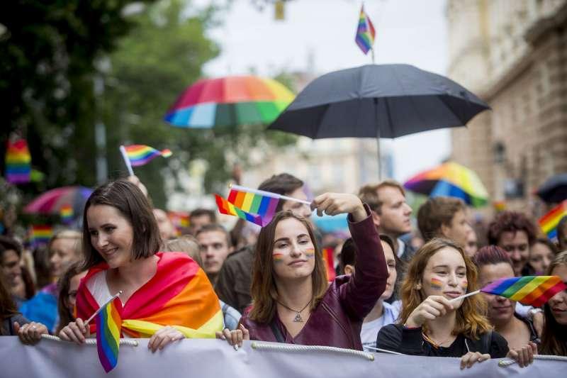斯洛伐克首都布拉提斯拉瓦同志遊行(翻攝網路)