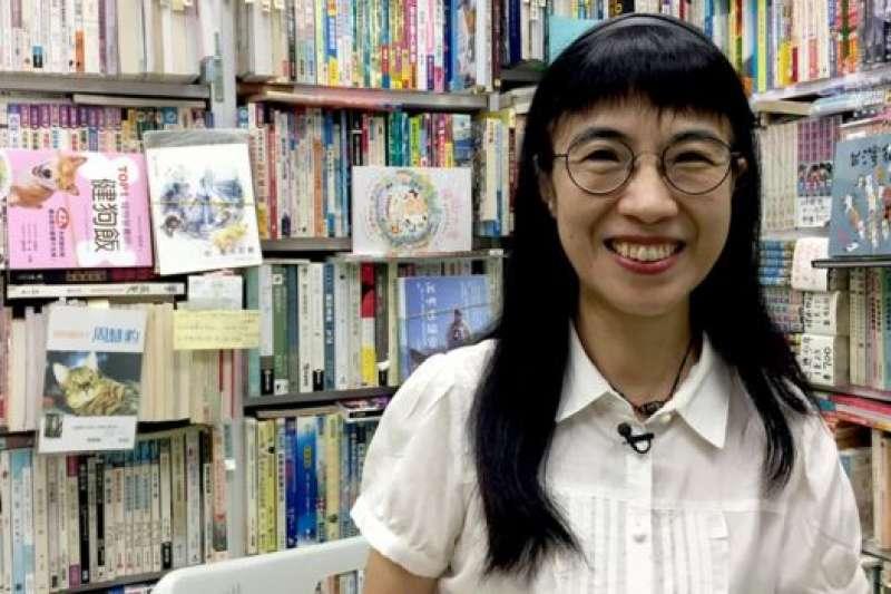 森記老闆陳琁。她笑說自己看起來比實際年齡年輕,「可能是貓的仙氣吧。」(BBC中文網)