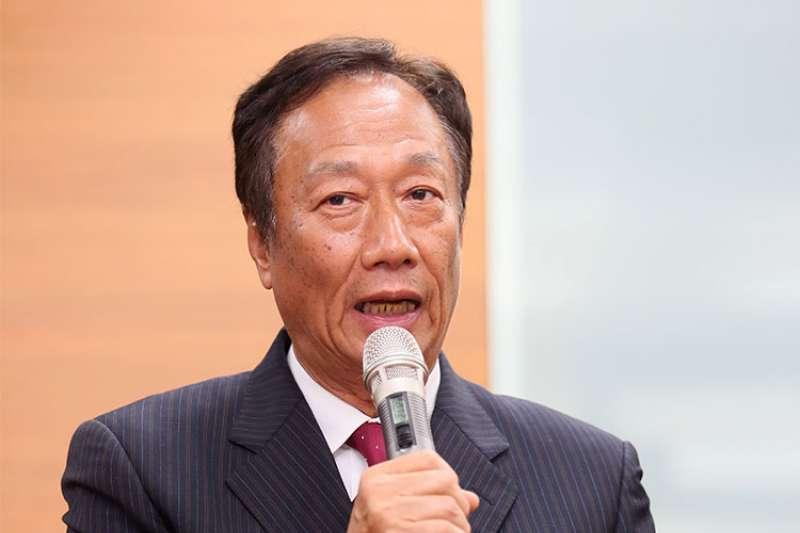 針對政論節目提及他和高市長韓國瑜合作是受到指派等言論,鴻海董事長郭台銘要求節目單位及相關人士公開澄清與道歉。(資料照,柯承惠攝)