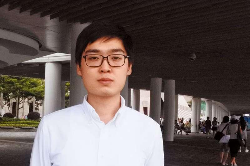 香港民族黨創辦人陳浩天。(郭宏治攝)