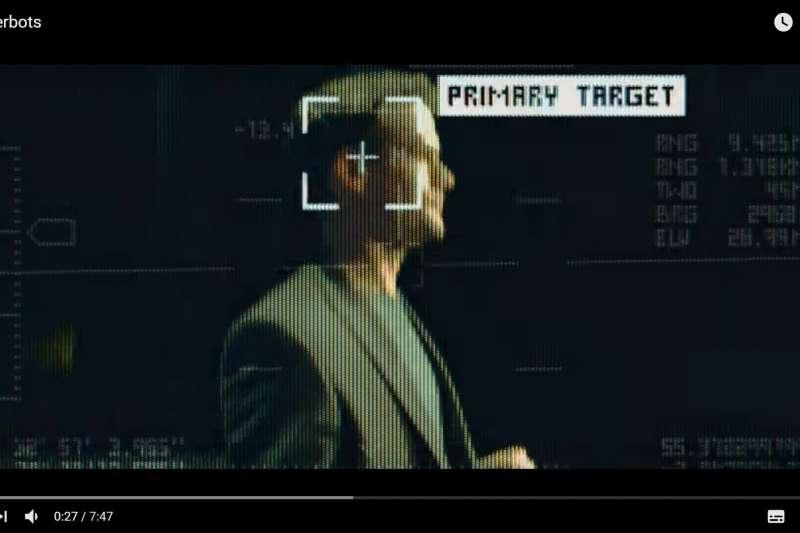 殺戮機器人,確認身分、鎖定目標、擊殺目標(YouTube)