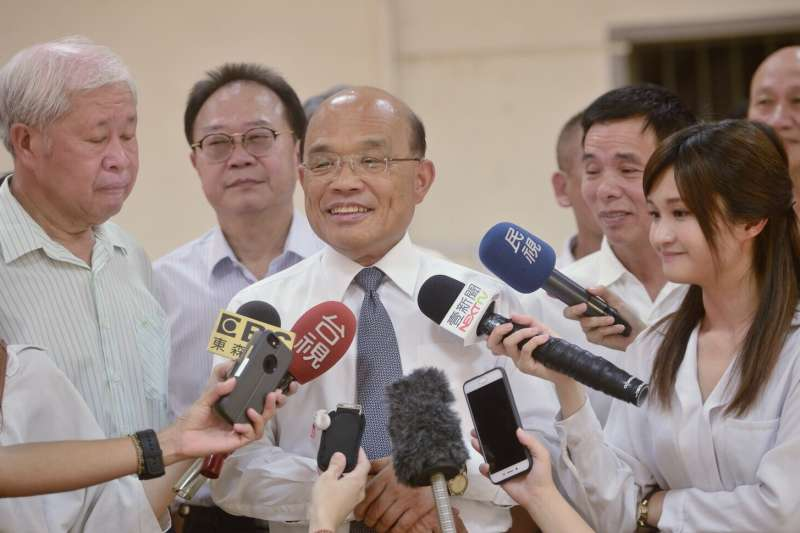 民進黨新北市長參選人蘇貞昌26日上午拜訪石碇農會。(蘇貞昌辦公室提供)