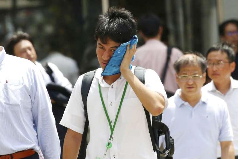 日本炎熱天氣。(AP)