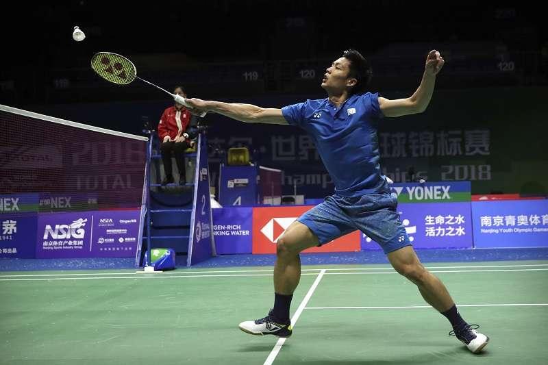 周天成在南韓公開賽16強賽面對宿敵坂本一將,以直落二順利晉級8強。 (資料照,美聯社)