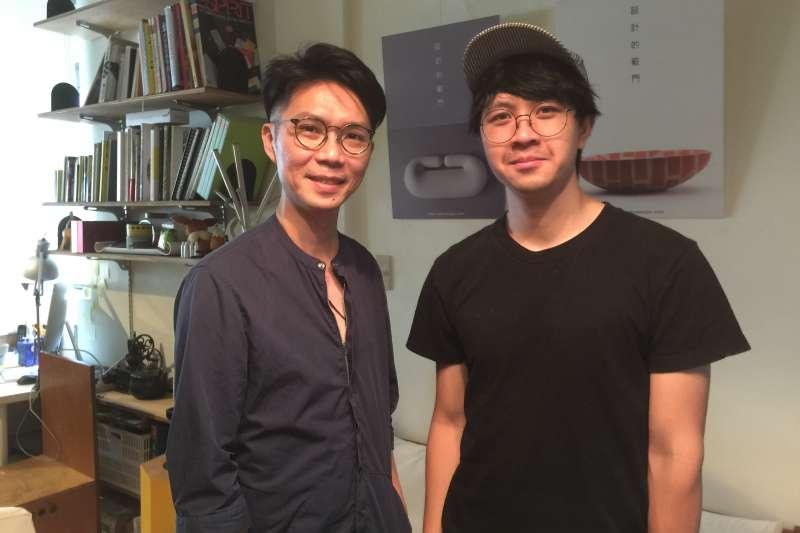 台灣社會企業「點點善」召集人葉文宏(左)和設計師蔡一豪(簡恒宇攝)