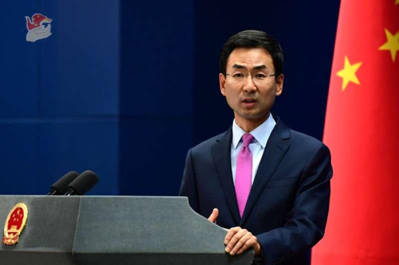 中國外交部發言人耿爽表示,對於我國總統過境美國,已向美方提出嚴正交涉,中方敦促美方不允許台灣地區領導人過境。(中國外交部)