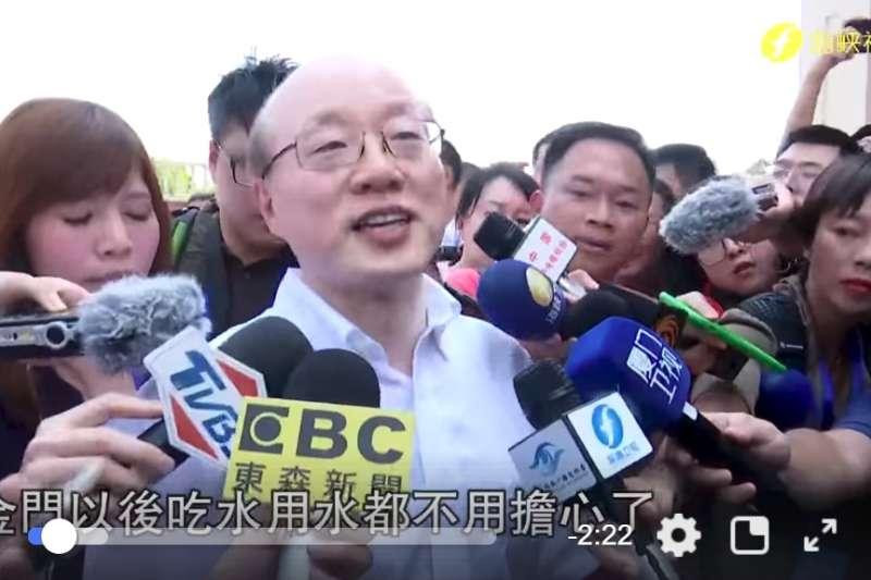 大陸國台辦主任劉結一(左2)昨指出,2019年北京主導兩岸關係走向的大勢會繼續加強。(資料照,翻攝臉書「今日海峽」影音)