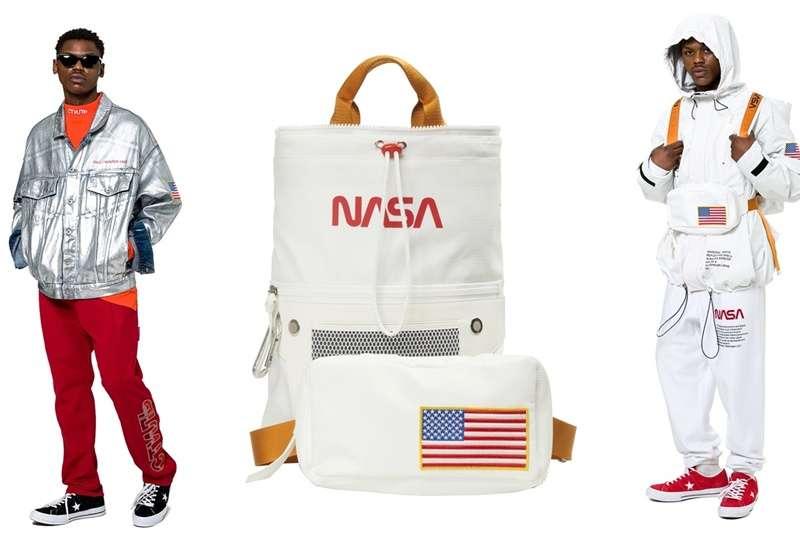NASA於上個月底歡慶60周年,更與知名的街頭時尚品牌Heron Preston聯名推出系列服飾。(圖/HPC trading co.|風傳媒合成)