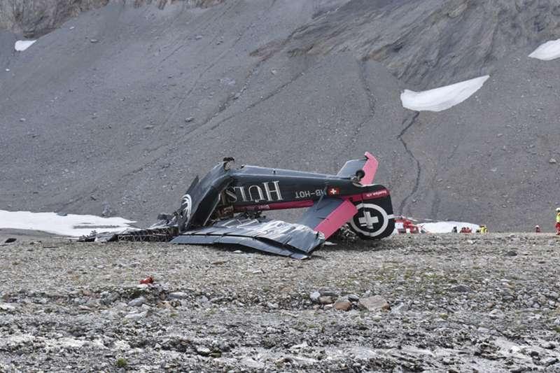 瑞士「JU-AIR」公司二戰德國骨董運輸機Ju 52,2018年8月4日墜毀在阿爾卑斯山區(AP)