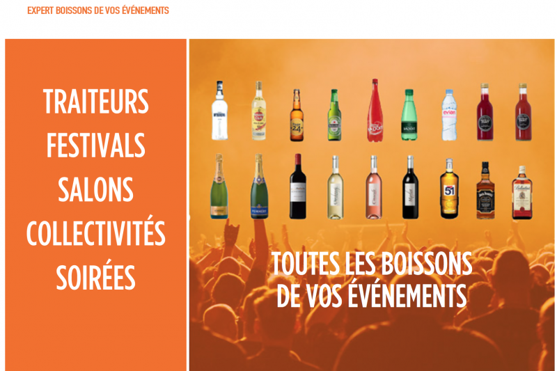 法國飲料供應商Barnum的官網首頁。(翻攝官網)