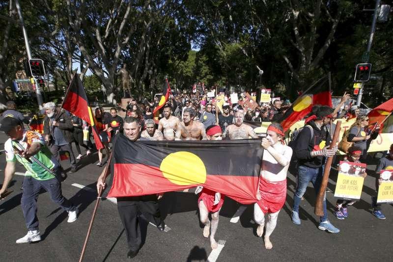 澳洲歡慶國際原住民日。(AP)