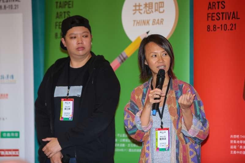 20180809-台北藝術節演出人員藍貝芝9日出席「第20屆台北藝術節」開幕記者會。(顏麟宇攝)