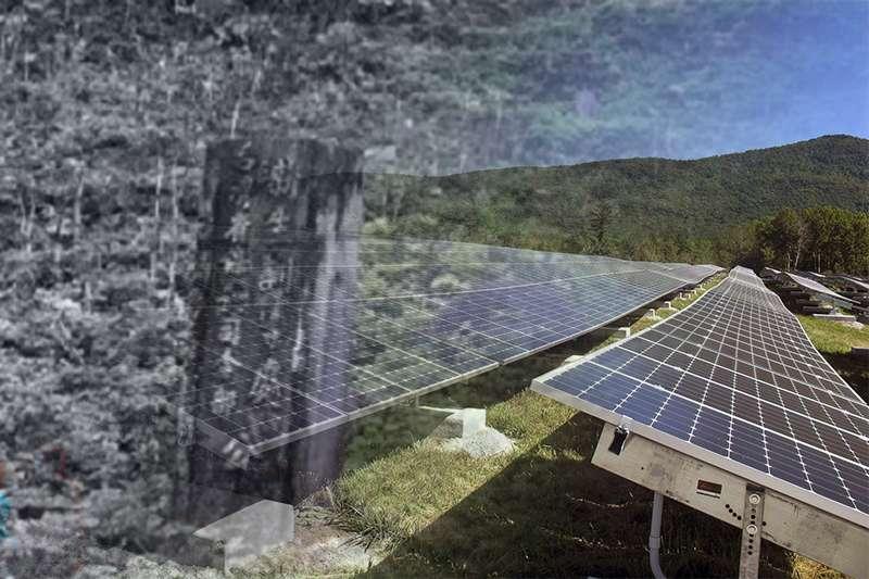 用愛發電失敗後,新政策要在公墓架太陽能,被稱為「請鬼發電」。(風傳媒影像合成)