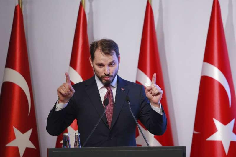 土耳其財政部長、總統女婿阿爾巴伊拉克(Berat Albayrak)。(AP)