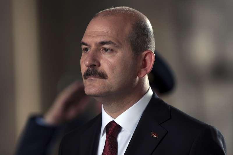土耳其內政部長索魯。川普政府宣布制裁索魯,凍結其在美國境內資產,禁止美國企業與其進行任何交易。(美聯社)