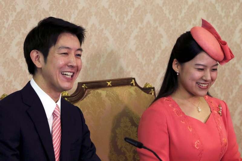 日本皇室高圓宮三女絢子與任職海運公司的守谷慧,預定10月29日在東京明治神宮舉行婚禮。(AP)