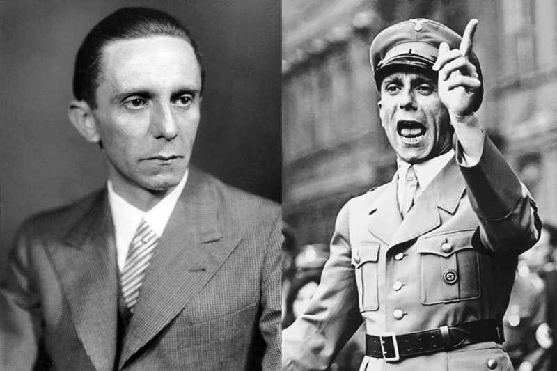 戈培爾是納粹名震一時的宣傳部長,讓許多人蜂擁追隨納粹。(圖/維基百科|風傳媒合成)