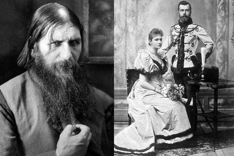拉斯普丁(左)因為「治癒」皇太子的關係,在宮中可謂呼風喚雨:他不僅有沙皇夫妻(右)撐腰、還在宮中肆無忌憚地喝酒作樂,更有數不勝數的貴族婦女對他神魂顛倒。(圖/維基百科|風傳媒合成)