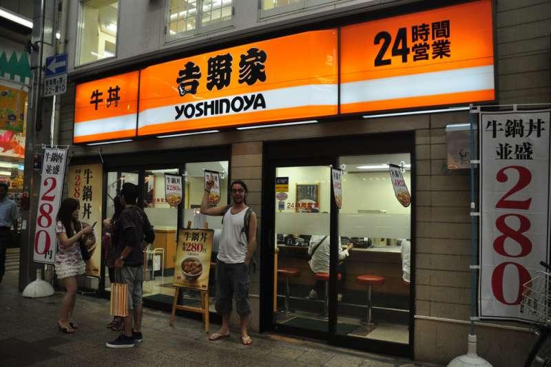 2001年,吉野家成為第一家曾歷經破產,卻能在東京證券交易所股票上市的公司。(Jordi Sanchez Teruel@Flickr)