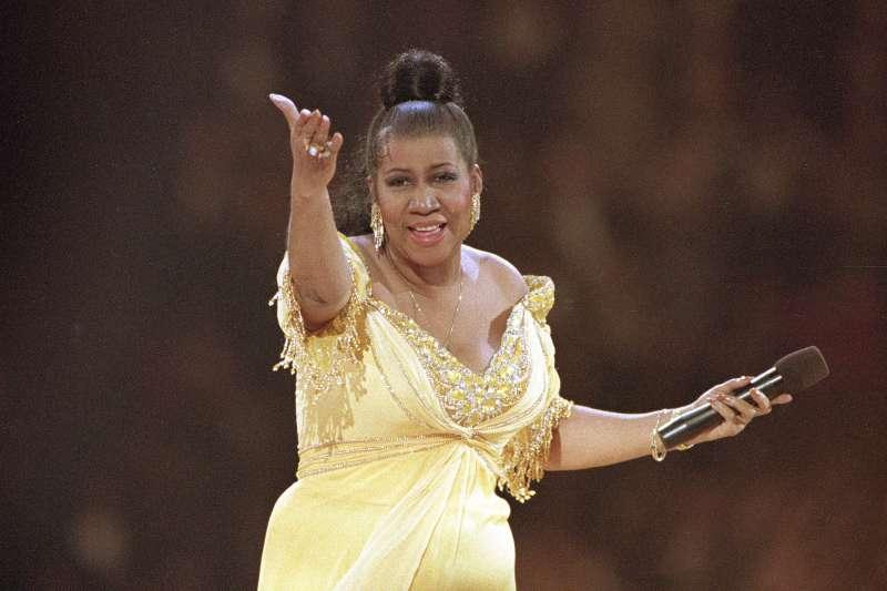 當代美國最偉大黑人女歌手、「靈魂樂女王」艾瑞莎弗蘭克林(Aretha Franklin)(AP)