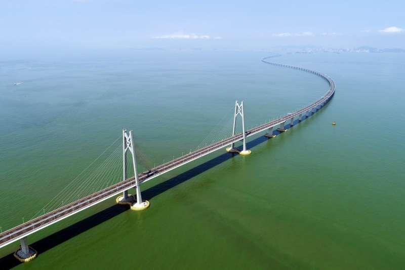 2018年7月11日無人機拍攝的港珠澳大橋。(新華社)