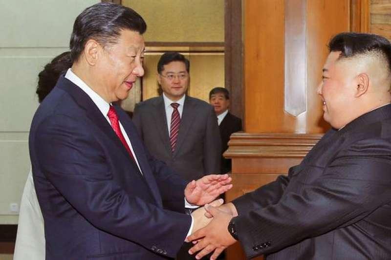 習近平今年6月在北京與金正恩會面(DW)