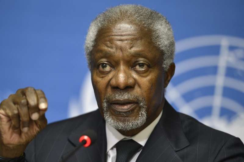 聯合國前秘書長安南18日逝世,享壽80歲(AP)