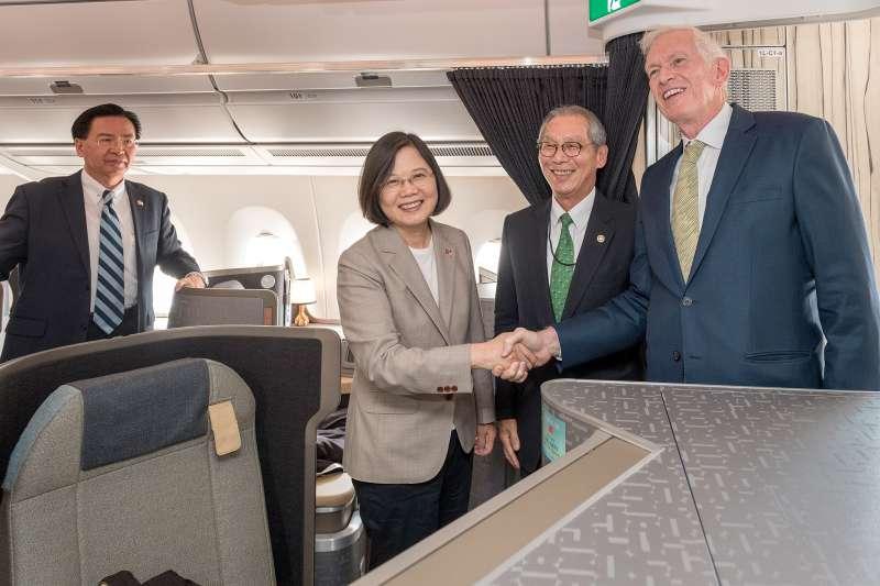 總統蔡英文去年8月出訪「同慶之旅」,當地時間18日抵達美國休士頓。(資料照,取自總統府)