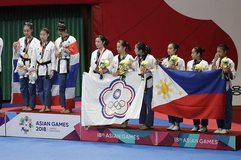 中華亞運代表隊跆拳道項目,繼男子選手陳靖拿下個人品勢銅牌之後,女子組也傳來好消息,拿下團體組銅牌。(美聯社)