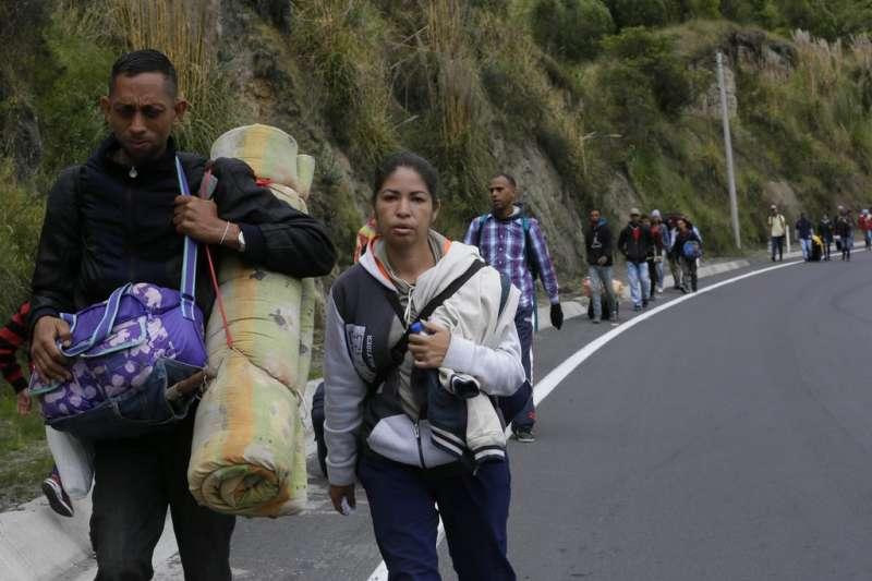 委內瑞拉移民。(AP)