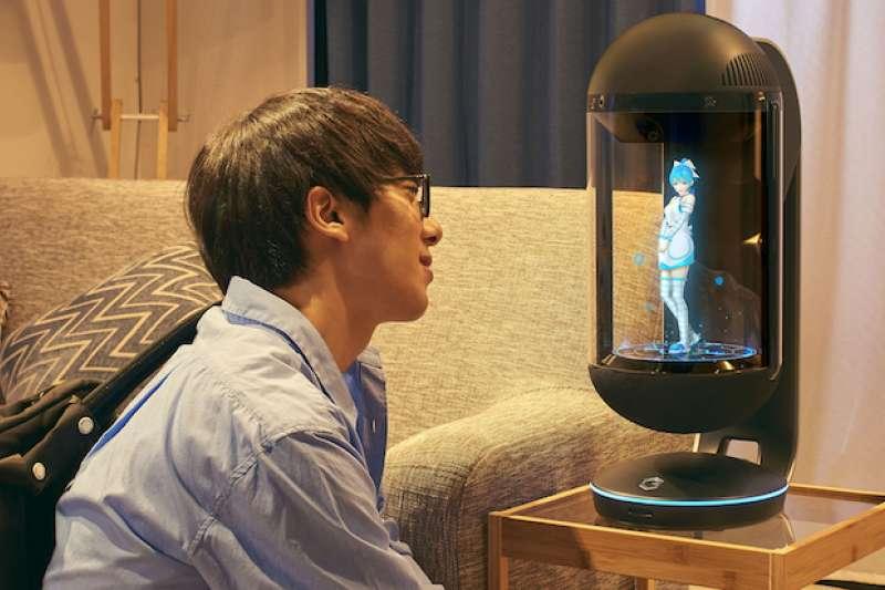 只要 15 萬日圓,就能把虛擬管家裝置 Gatebox 帶回家。(圖/翻攝自 Gatebox,智慧機器人網提供)