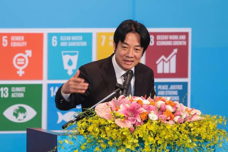 20180821-行政院長賴清德21日出席「永續發展目標聯盟」成立大會。(顏麟宇攝)