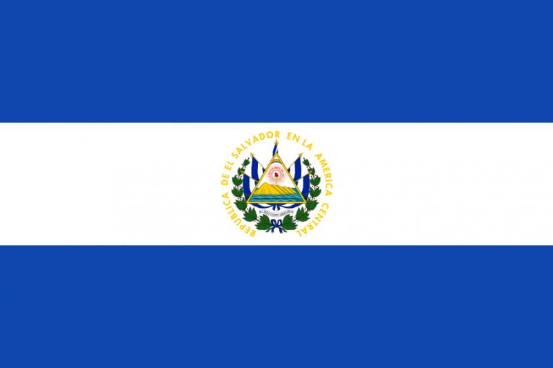 薩爾瓦多國旗。(維基百科)