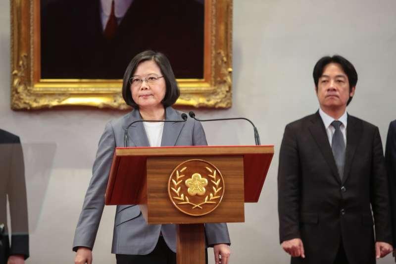 20180821-總統蔡英文21日於外交部宣布與薩爾瓦多斷交後,發表重要談話。(顏麟宇攝)