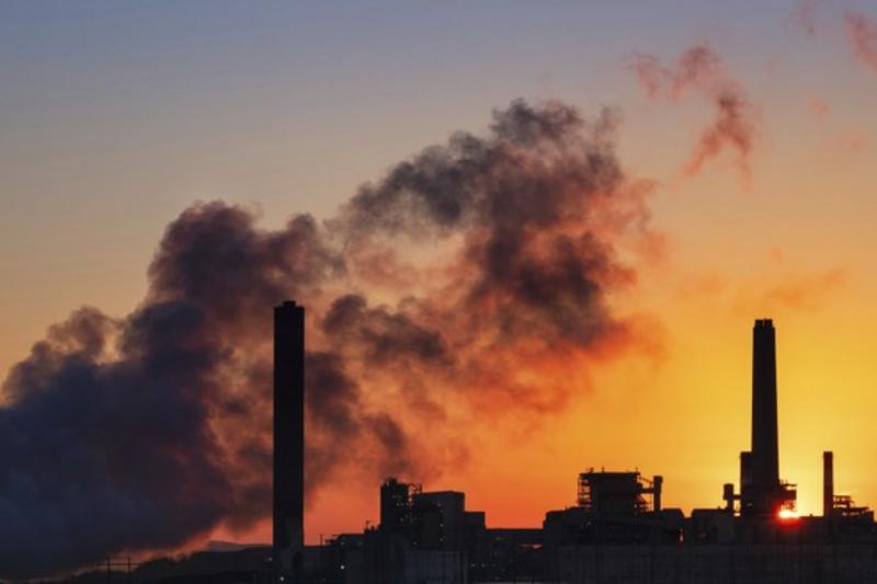 燃煤發電廠示意圖(AP)