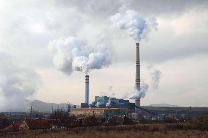 燃煤發電廠示意圖。(圖/Public Domain)