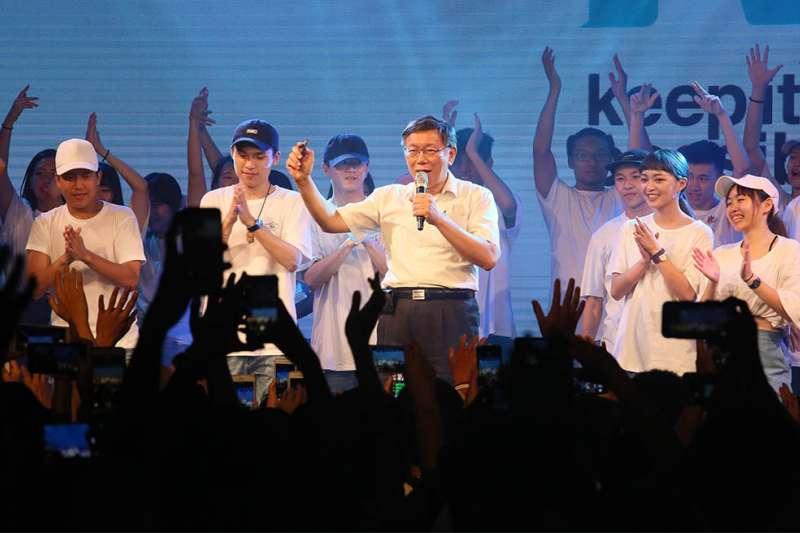 台北市長柯文哲固然凝聚了厭惡兩黨鬥爭的民氣,但能否真的集結成新的政黨或第三勢力,還有待觀察。(柯承惠攝)