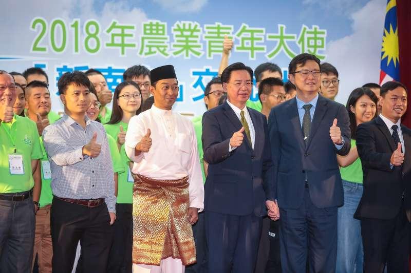 20180822-外交部長吳釗燮22日出席「2018年農業青年大使新南向交流計畫」授旗記者會。(顏麟宇攝)