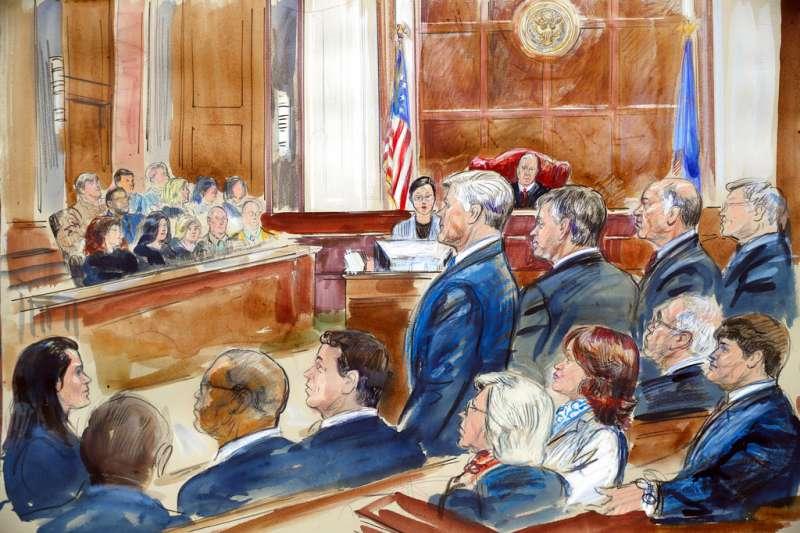 馬納福特被陪審團認定8項罪名成立。(美聯社)