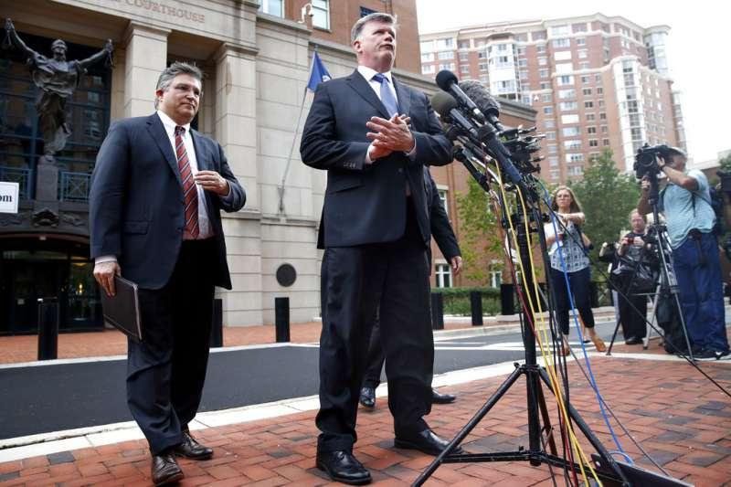 馬納福特的辯護律師道寧表示,對法院判決感到「失望」。(美聯社)