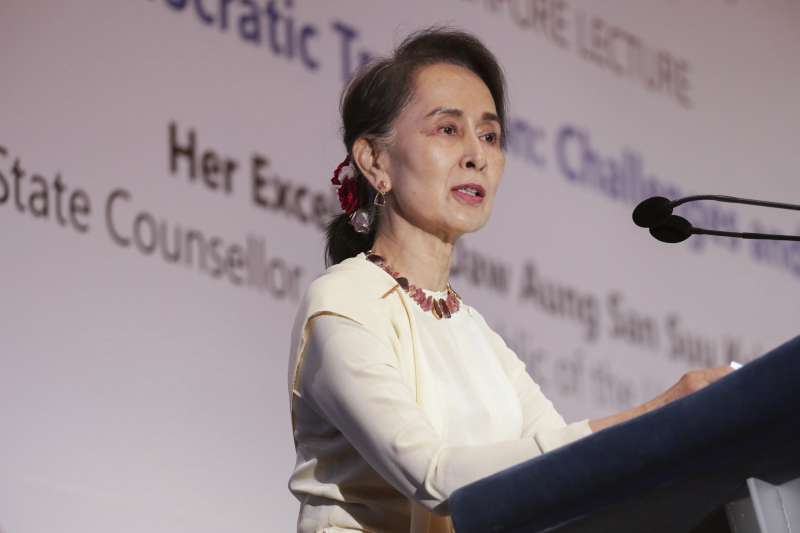 緬甸實質領導人、國務資政翁山蘇姬(AP)