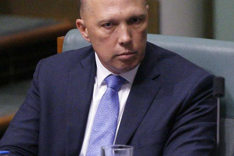 澳洲前內政部長杜頓(Peter Dutton)逼宮現任總理騰博,成為挑戰總理大位的熱門人選。(AP)